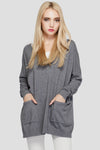 Ellady Chic Grey Long Loose Knitwear