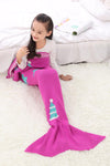 Ellady Christmas Gift Mermaid Tail Blanket For Kids
