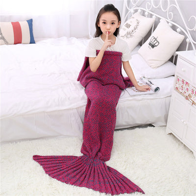 Ellady Christmas Soft Mermaid Tail Blanket for Kids