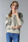 Ellady Color Block Striped Bat Sleeve Sweater