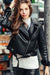 Ellady Cool Girl Black PU Jacket