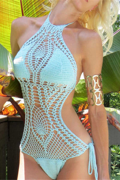 Ellady Crochet One Piece Swimsuit