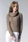 Ellady Grey Long SleeveTurtleneck Sweater