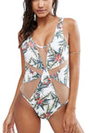 Ellady Hawaii Beach Mesh One-piece Swimwear
