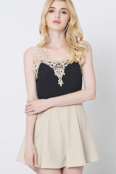 Ellady Lace Spliced Elegant Mini Dress