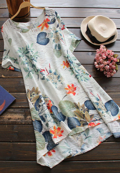Ellady Loose Floral Print Dress