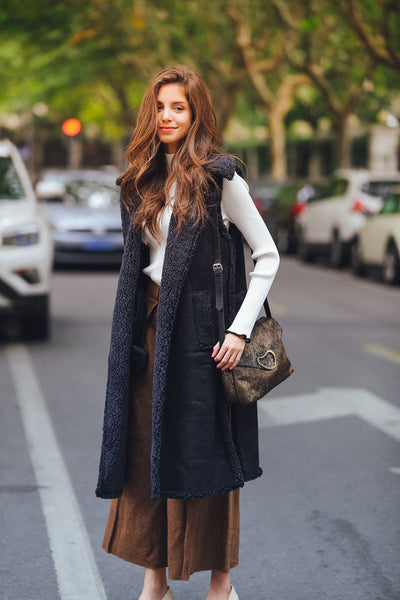 Ellady Oversized Open Front Coat Vest