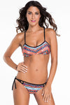 Ellady Retro Printing Bikini Set With Ties