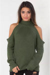 Ellady Stylish Cold Shoulder Sweater