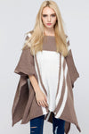 Ellady Stylish Color Block Sweater Cape
