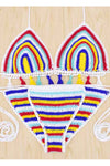 Ellady Sweet Rainbow Crochet Swimsuit