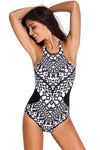 Ellady Tribal Print Halter One Piece Swimsuit
