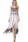 Ellady Vintga Print Split Maxi Dress