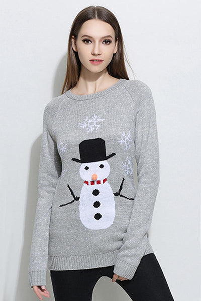 Ellady Warm Christmas Snowman Sweater