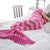 Ellady Wave Striped Mermaid Tail Blanket