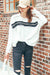 Ellady White Oversized Bat Sleeve Shirt