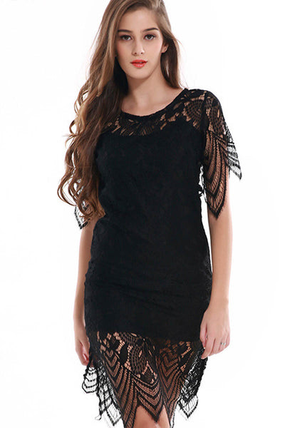 Trendy Times Sexy Black Lace Dress