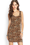 Ellady Leopard Print Cross Back Slim Dress