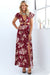 Ellady Floral Print High Slit Cut-out Long Dress