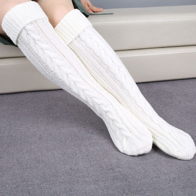 Ellady Cozy Cable Knit Long Boot Socks