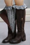 Ellady B&W Long Boot Cuffs Leg Warmers