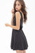 Ellady Black Open Back Polka Dot A-Line Dress