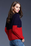 Ellady Contrast Color Block Pullover Sweater