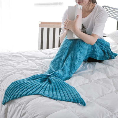Ellady Crochet Knitting Mermaid Tail Blanket