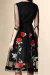 Ellady Embroidery Rose Organza Dress