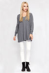 Ellady Grey V Neck Casual Knitwear