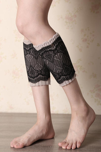 Ellady Two-Layer Reversible Lace Boot Cuffs