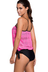 Ellady Lace Overly Bandeau Tankini Swimsuit