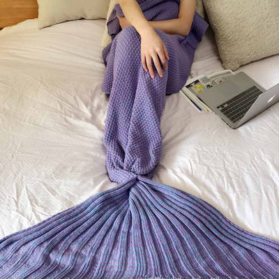 Ellady Mermaid Tail Blanket for Winter