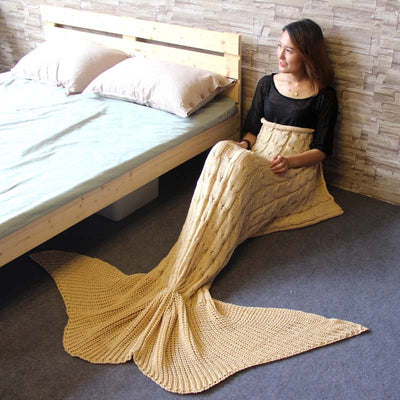 Ellady Mermaid Tail Living Room Sleeping Blanket