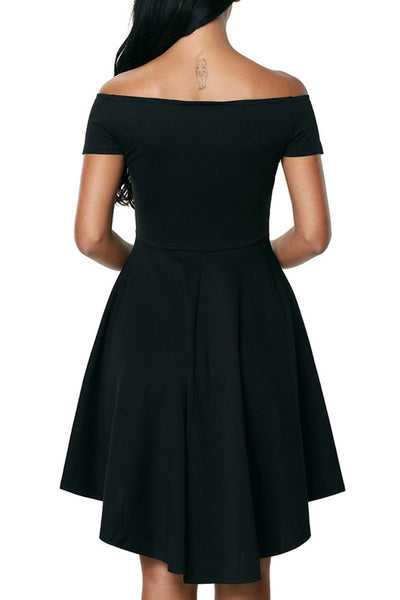 Ellady Off-the-shoulder High Low Dress