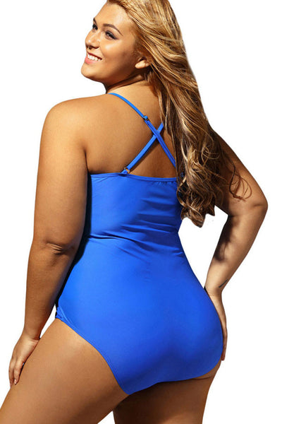 Ellady Plus Size Cut Out One-piece Swimsuit