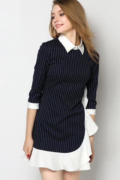 Walk Me Home Irregular Striped Dress