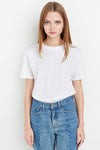 Ellady White Backless Casual Shirt