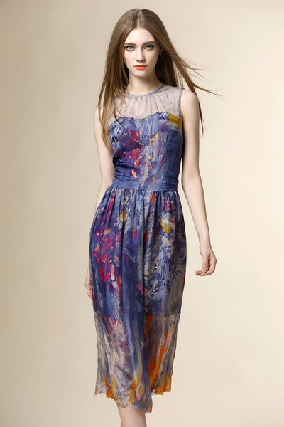 Lasting Impression Silk Floral Dress