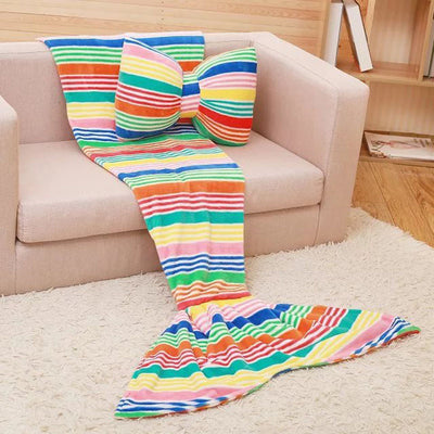 Ellady Flannel Mermaid Tail Sleeping Blanket