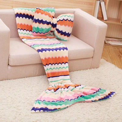 Ellady Flannel Mermaid Tail Blanket