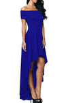 Ellady Blue High Low Off Shoulder Party Dress