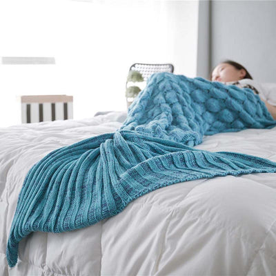 Ellady Crochet Mermaid Tail Blanket