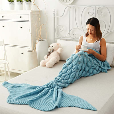 Ellady Cute Mermaid Tail Blanket for Girls Gift