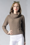 Ellady Grey Long Sleeve Turtleneck Sweater