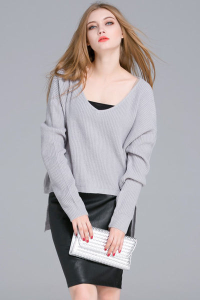 Ellady High-low Casual Style Warm Sweater