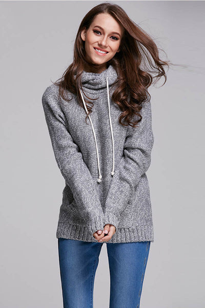 Ellady Long Sleeve Tunic Hoodie Sweater With Pocket