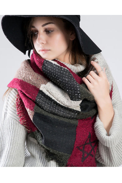 Ellady Warm Plaid Blanket Shawl Scarf