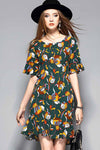 Floral World Fish Tail Summer Dress