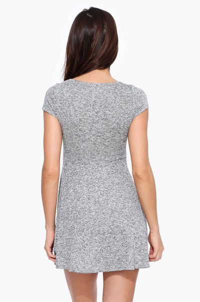 Ellady Grey Short Sleeve A-lined Shirt Dress